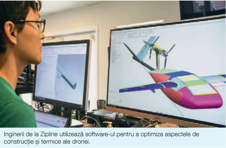Inginerii proiecteaza drone Zipline